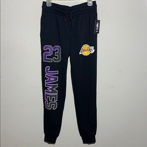 NWT NBA Men's Lakers Lebron James Joggers